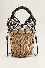 Mango Bamboo Basket Hand Bag