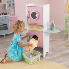 Laundry Play Set Pretend Washer Dryer Toy Chalkboard Kitchen Toddler Kid Child