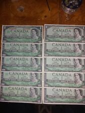 Old Canadian Bills 10 1 dollar 5 centennial 1967 - 5 1954