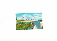 1959 Queen of Bermuda Postcard With 6d Postage Hamilton Cancel Perot Post Office