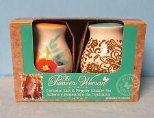 Pioneer Woman Flea Market Decorated Salt Pepper Shaker Ceramic NIB