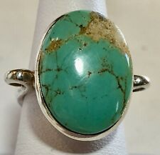 Sterling Silver and Turquoise Dyed Howlite Ring Size 6.5                JC0204