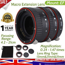 Macro Extension Camera Adapter Lens Auto Focus Tube Rings Set for Canon EOS EF