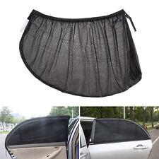 2x M Black Fabric Mesh Car Side Rear Window SunShade Cover Visor Shield SunVisor