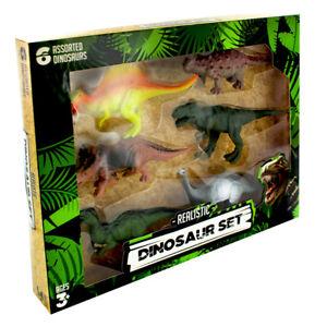 Realistic Dinosaur Set - 6 Dinosaurs, Toys & Games *Brand New*