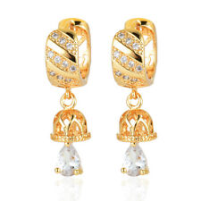 Fashion Style Women Gold Plated Cubic Zircon CZ Hoop Earrings Jewelry Engagement