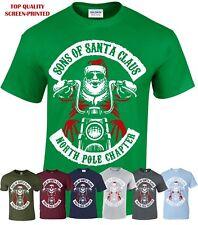 Sons Of Santa Men T-Shirt/Funny/Biker/Decembeard/Fancy/Christmas/Gift/Xmas Top