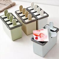 Ice Cream Mould Popsicle Mold Silicone Tray Ice Cream Dessert Maker Home&Kitchen