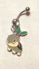 Turtwig  Pokemon  Belly Ring Navel Ring 14G Surgical Steel Dangle