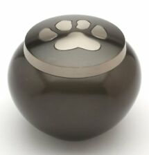 Urns UK Hedon Urne Funéraire en Étain pour Animal de Compagnie Noir 7 6 cm