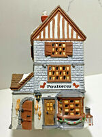 "Department Dept 56 Herritage Dickens Village Series Lighted House ""POULTERER"""