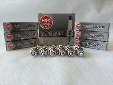 6-New NGK V-Power Copper Spark Plugs BKR5EYA #2087 Made in Japan