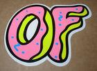 ODD FUTURE OFWGKTA Sticker DONUT OF BAND LOGO decal New TYLER THE CREATOR