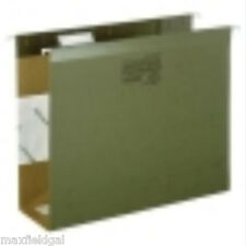 Used 100 pak Hanging File Folders, Boxbottom, Letter - SEE OPTIONAL LEGAL $