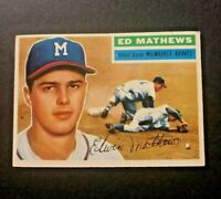 1956 Topps baseball card #107 Edwin Lee Mathews Jr Milwaukee Braves
