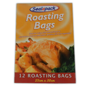 12 Large Chicken Roasting Bags For Cooking Meat in the Oven Or Microwave