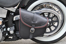 SWINGARM LEATHER BAG FOR HD SOFTAIL AND RIGID FRAMES, MADE IN ITALY