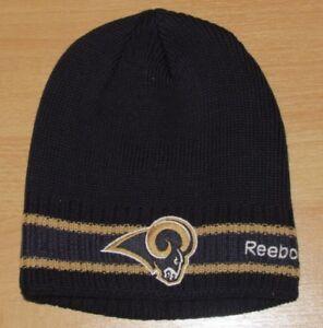Los Angeles Rams Navy Ribbed On-Field Cuffless Beanie Winter Knit hat cap Men's