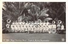 RPPC ROYAL HAWAIIAN BAND Frank J Vierra Hawaii ca 1930s Vintage Postcard