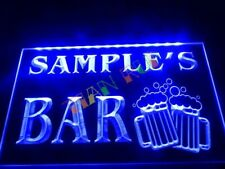 Personalised LED Neon Bar Sign Home Light Up Drink Pub Custom Name Beer Own