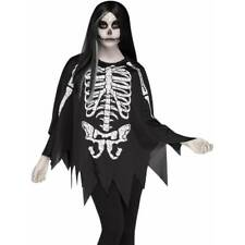 Squelette Cape Poncho Day of the Dead Déguisement Halloween