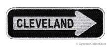 CLEVELAND ONE-WAY SIGN EMBROIDERED IRON-ON PATCH applique OHIO SOUVENIR ROAD