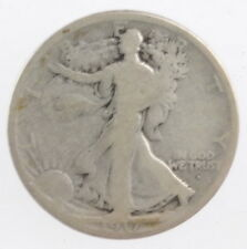 1917 S US Mint Silver Walking Liberty Half Dollar 50 Cent Coin