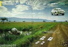 Publicité advertising 2002 (2 pages) Renault Scenic Aigle
