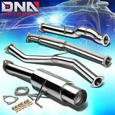 """4""""TIP STAINLESS STEEL EXHAUST CATBACK SYSTEM FOR 12-15 HONDA CIVIC 2DR FG3 R18Z1"""