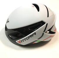 Casco bici corsa Vittoria VH Ikon bianco white road bike helmet L-XL 58-62 cm