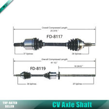 2x Front Left Right Surtrack Cv Axle Shaft For 05-07 Ford 500 Auto CVT AWD CU21