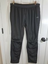 Under Armour Pants Womens Cold Gear Semi Fitted Rip Stop Gray XL Vent Knee