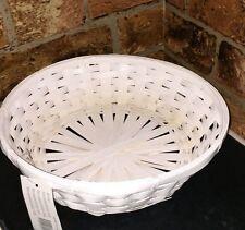 3 X WHITE WICKER ROUND STRAW HAMPER BIRTHDAY WEDDING easter mother's GIFT BASKET