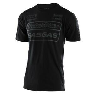 Troy Lee Designs Short Sleeve Mens T-Shirt 2021 TLD GASGAS Team - Black