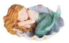"4.5"" Baby Mermaid In Shell Sea Decorative Figurine Ocean Nautical Decor"