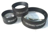Ophthalmic Lens Combo Pack 20D 90D & 78D Free Shipping Lens Set of Three Medico