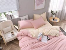Bettwäsche 220x240 microfibra Rosa gelb Bettwaren Bettbezug Garnitur Renforce