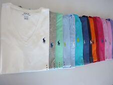 NWT Ralph Lauren V-Neck Short Sleeve Solid&Striped T-Shirt For Women XS S M L XL