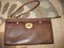 COACH MAHOGANY LEATHER ZIPPY WALLET CLUTCH WRISTLET PYTHON PENELOPE TURNLOCK