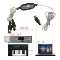 Keyboard to PC Adapter MIDI 5-Pin to USB Music Recording Converter Interface