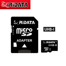 Ridata 64 64GB 64G Micro SD SDHC Class 10 UHS-I TF Memory Card for Cell Phone