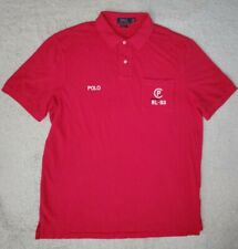 Polo Ralph Lauren RLYC CP-93 Embroidered Rugby Shirt Magenta stadium 92 L