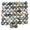 50 Pcs Natural Labradorite 11mm/9mm Oval Cabochon Loose Gemstones Wholesale Lot