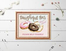 Doughnut Bar Love is Sweet A4 Sign - Frame not Included