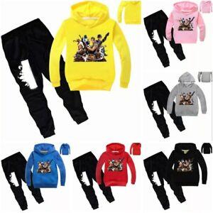 Fortnight Tracksuit Boys Girls Sweatshirt & Pants Long Sleeve Hooded Cotton Thin