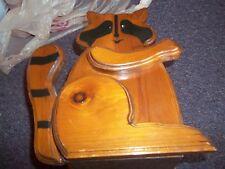 raccoon letter holder or craft holder apx. 12x9 handcraf Tri-Heldt Crafts wooden