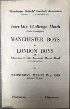 More details for manchester boys v london boys  1958/59
