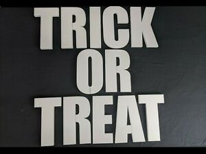 TRICK OR TREAT Polystyrene Decorative Letters - 380mm high - 25mm thick