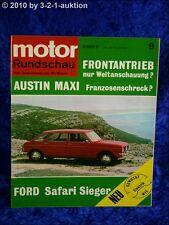 Motor Rundschau 9/69 Austin 1500 Maxi Fiat 128