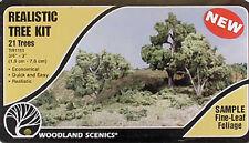 """Woodland Scenics TR1111 N/HO Tree Kits 3/4-3"""" (21) Train Scenery"""